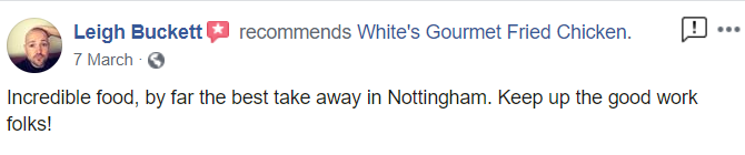 whites gourmet fried chicken review nottingham